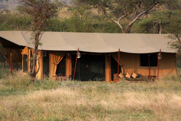 A view of the lodging at Lemala Elewanja Camp