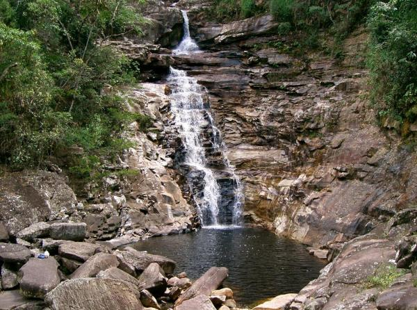 Witness this beautiful waterfall while hiking through Chapada Diamantina