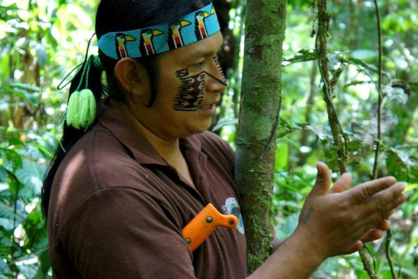 Learn about the rainforest from a native Huaorani guide
