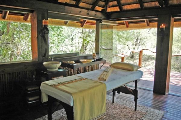 Enjoy a luxurious massage while staying at the Simbambili Lodge