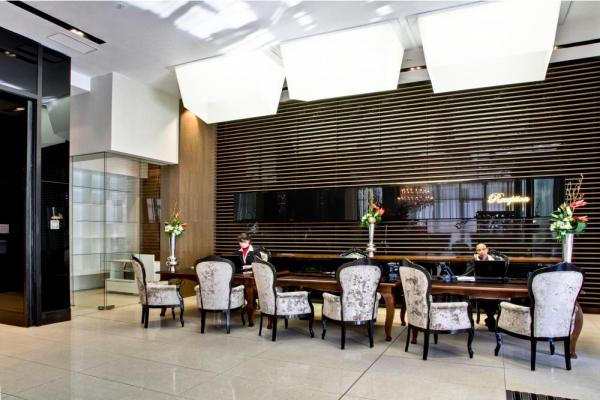 Pepper Club Luxury Hotel and Spa's reception area.