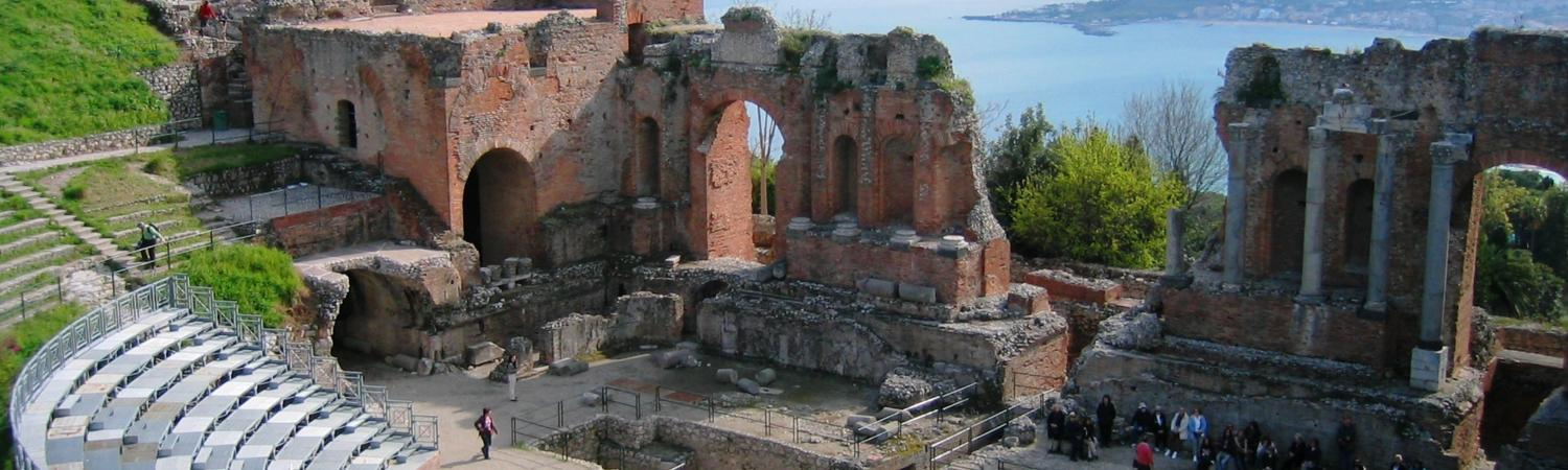 Visit the ruins in Taormina, Sicily on your Dolce Vita Cruise