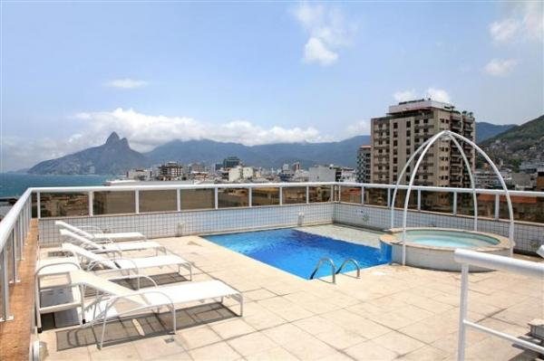 View the beaches of Rio de Janeiro from the rooftop pool at Atlantis Hotel