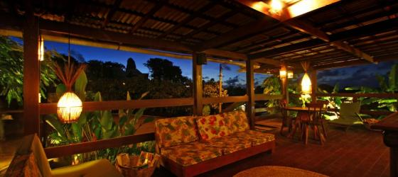 Relax on the outdoor veranda at Pousada Mar Atlantico