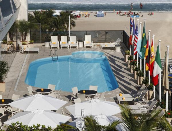 The swimming pool at Windsor Atlantica sit on the beach
