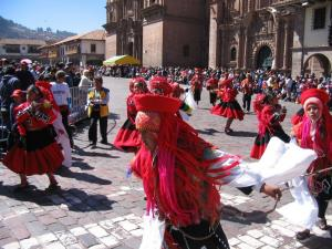 The parade in Cusco