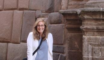 Beth in Cusco - and happy to be there