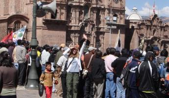 See me? Im the blond one.  Plaza del Armas, Cusco