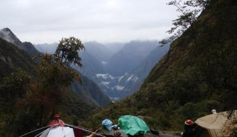 Camping in the Peruvian Andes on the Inca Trail