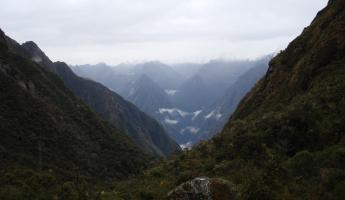 View of the Andes from our campsite - Inca Trail, Day 3