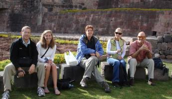 Good group of folks relaxing in Cusco