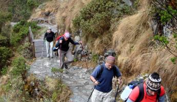 Trekking on the Inca Trail - day 2