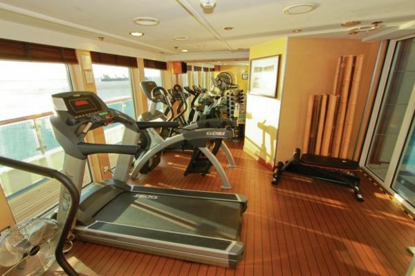 Keep in shape in the exercise room aboard the National Geographic Orion