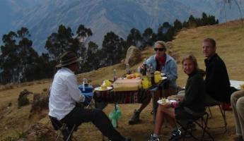 Lunch setting in Sacred Valley.  Hard to beat that view.