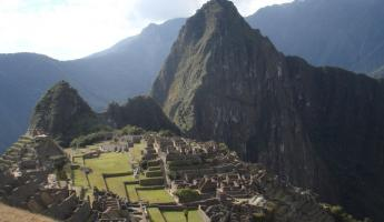 We welcomed the commanding greeting from Machu Picchu