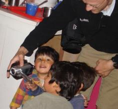 Visiting the children at Mantay Shelter in Cusco, Peru