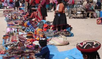 Chinchero market in the Sacred Valley