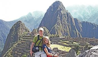 Aaron and Beth enjoying the sites of Machu Picchu