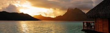 An amazing sunset over Bora Bora