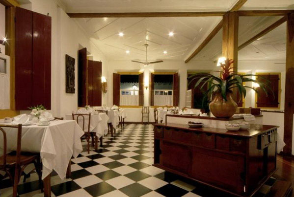 The dining room at Pousada do Ouro