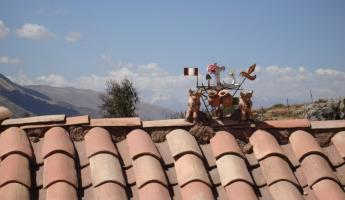 House-top charm in the local village outside of Cusco, Peru