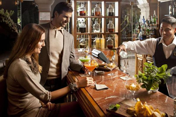Enjoy a drink at the bar of Palacio Nazarenas