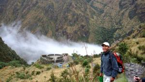 Our guide, Vidal, explaining about the ruins found along the Inca Trail