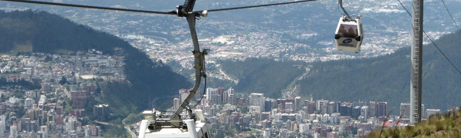 Enjoy spectacular views of Quito during a gondola ride
