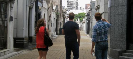 Wandering through the tombs of the Recoleta Cemetery