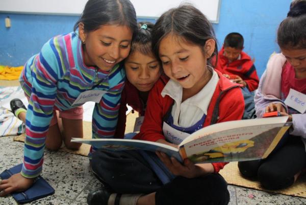These engaging story books are just one of the many ways CORP fosters reading and learning among primary school students in Guatemala.