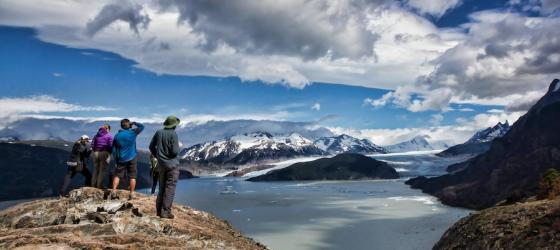 Trekking in Torres del Paine provides spectacular views of mountains, glaciers and lakes