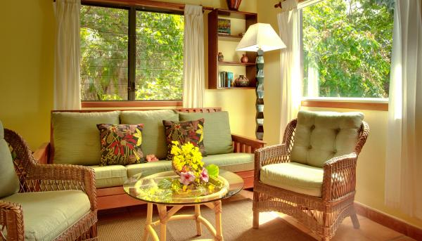 Enjoy the peace and quiet in this cozy sitting area at Hamanasi Resort