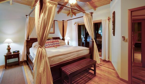 Welcome to your luxury bedroom at Hamanasi Resort