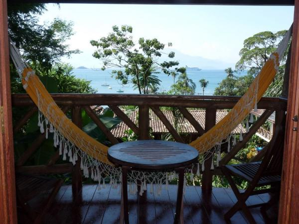 Your private deck at Pousada Naturalia
