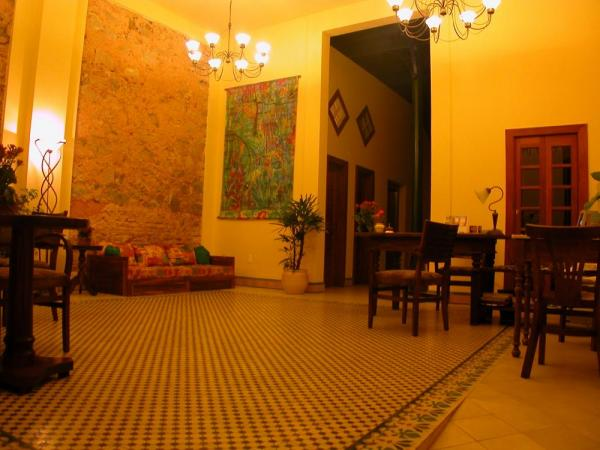 The inviting lounge of Pousada do Pilar