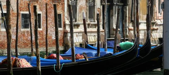 The romantic gondolas of Venice