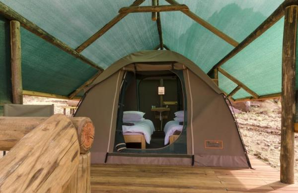 Camp in comfort with Kulala Adventurer Camp