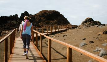 Elevated walkway on Bartolome Island