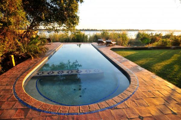 The pool with a view at the Tongabezi Lodge