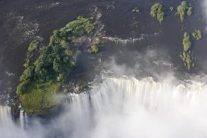 An aerial view of Victoria Falls.