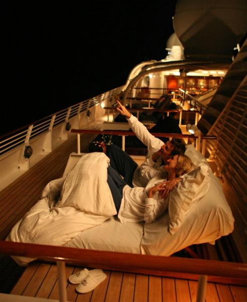 Watch the stars aboard the SeaDream II
