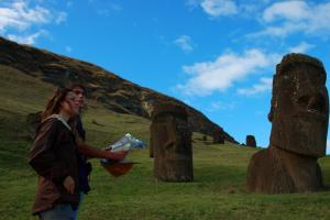 Wind your way across the Easter Island to view the mysterious Moai