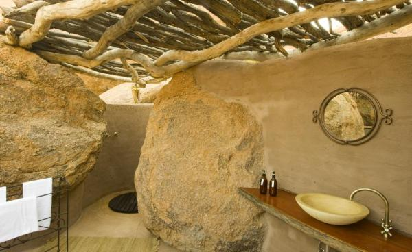 Enjoy this incredible and unique bathroom at Camp Kipwe