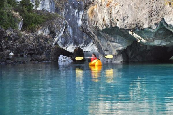 Kayaking the marble caves