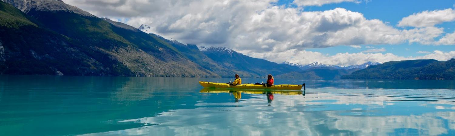Kayaking near Aysen, Chile
