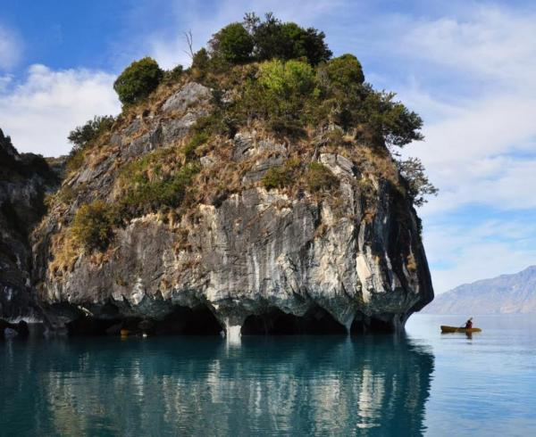 Kayaking the Marble Caves near Aysen, Chile