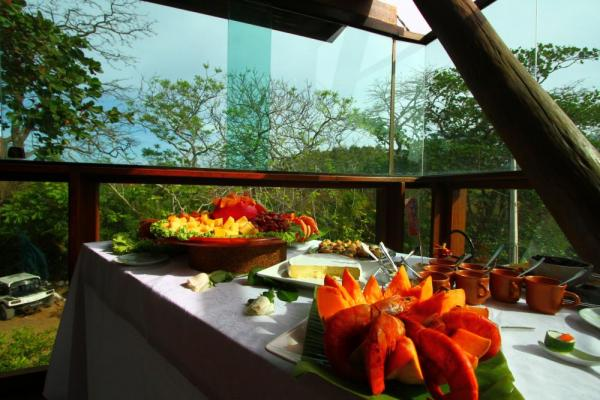 Enjoy gourmet meals during your stay at Pousada Teju Acu