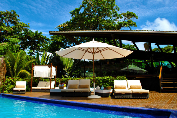 Relax by the pool at the exceptional Pousada Teju Acu