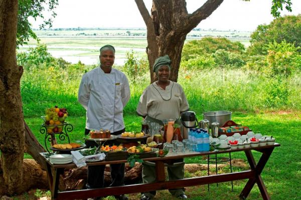 Enjoy a delicious feast while on your African safari.