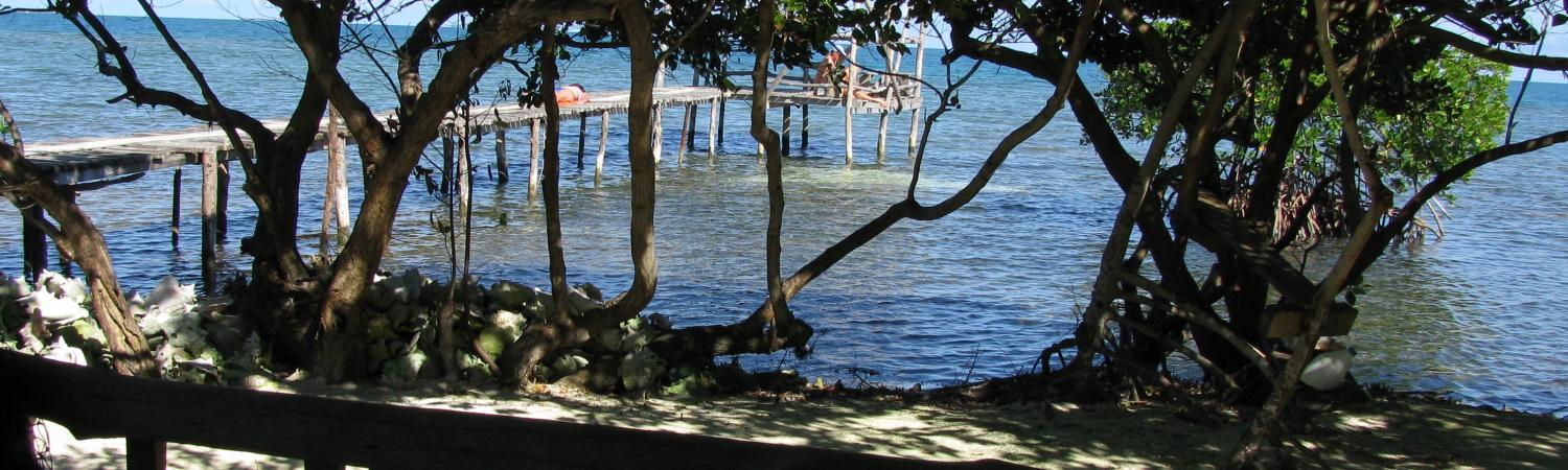 Beach views from your porch at Billy Hawk Caye